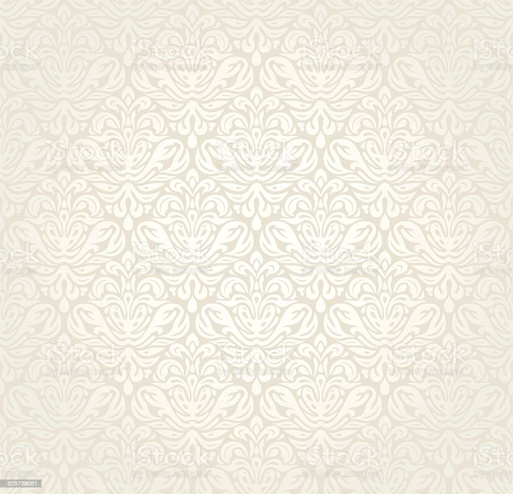 Bright luxury vintage wallpaper vector art illustration