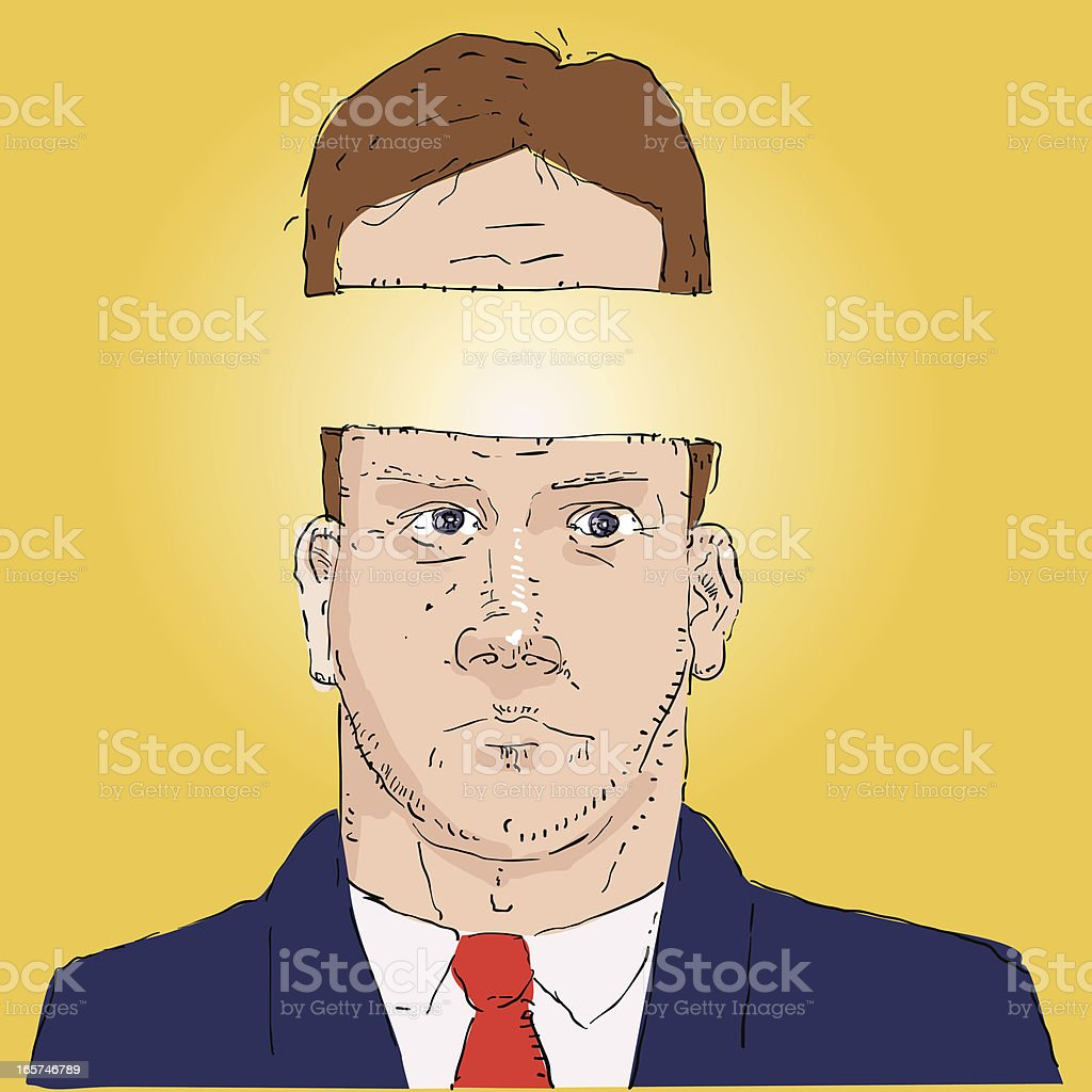 Bright man royalty-free stock vector art