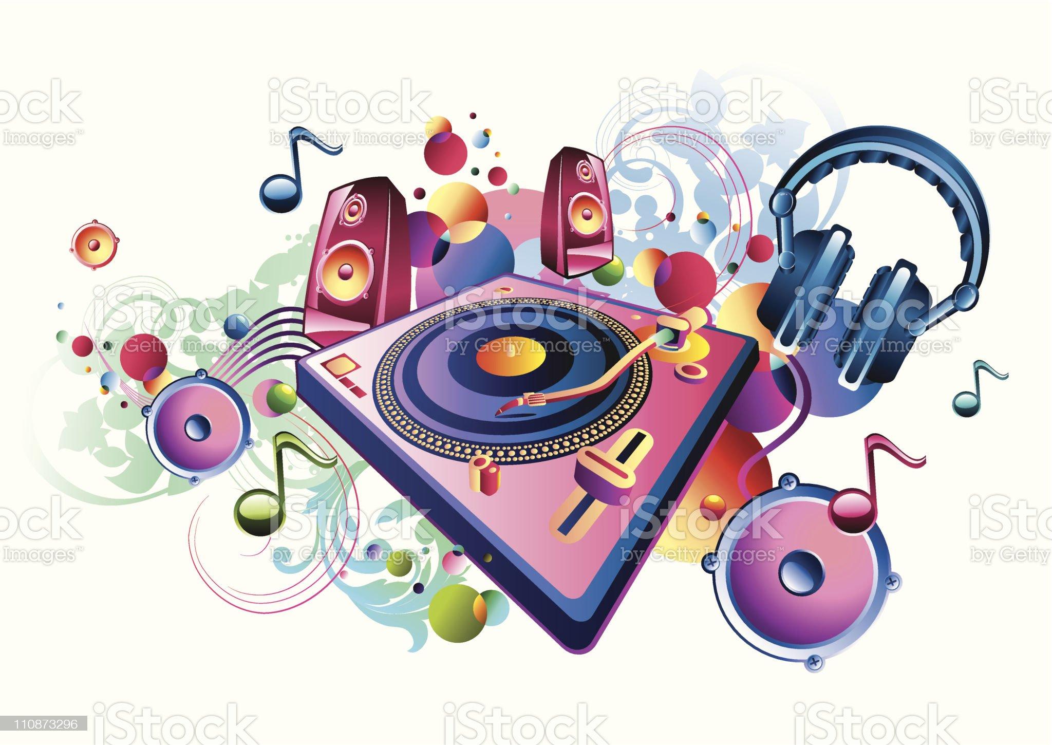Bright music royalty-free stock vector art