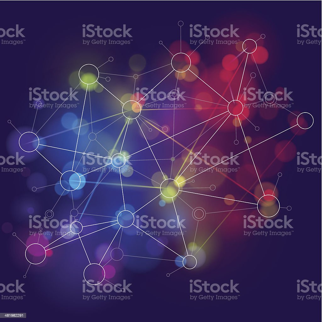 Bright network background royalty-free stock vector art