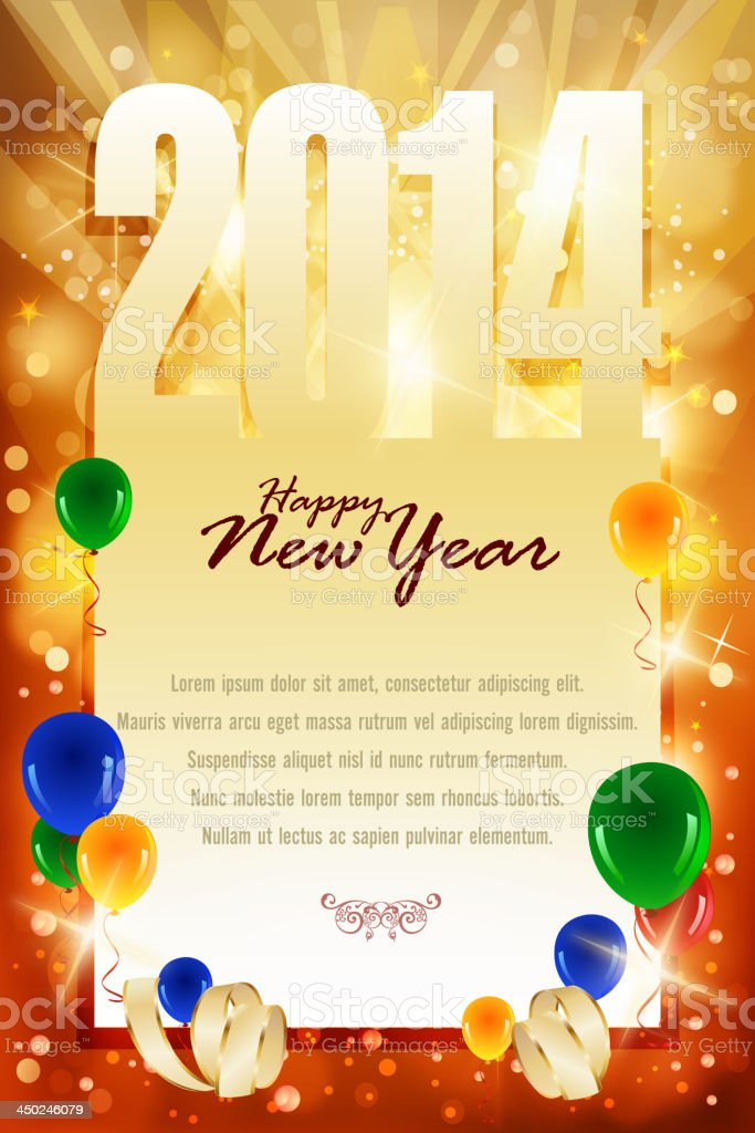 Bright New Year Celebrations Background royalty-free stock vector art