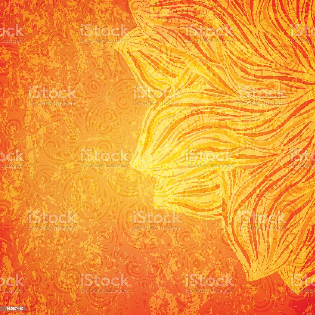 Bright orange background vector art illustration