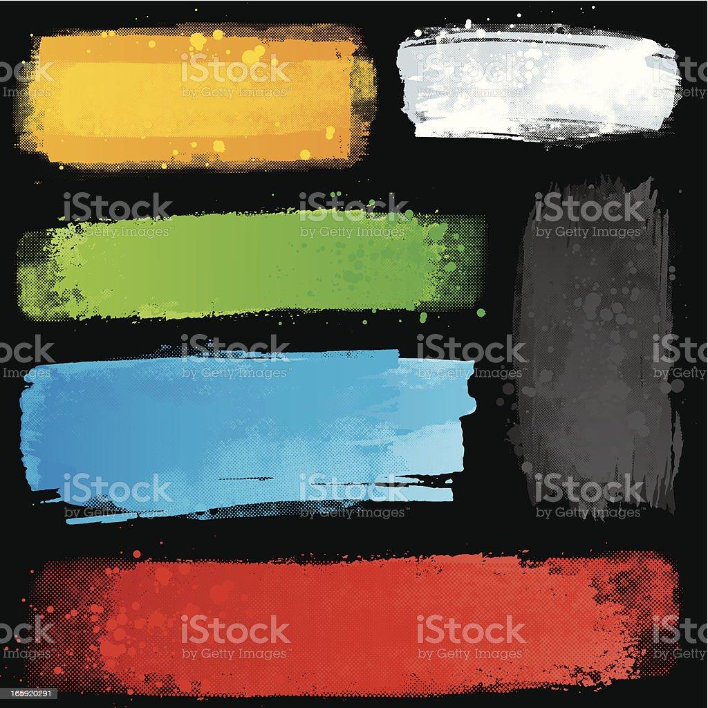 Bright paint strips vector art illustration