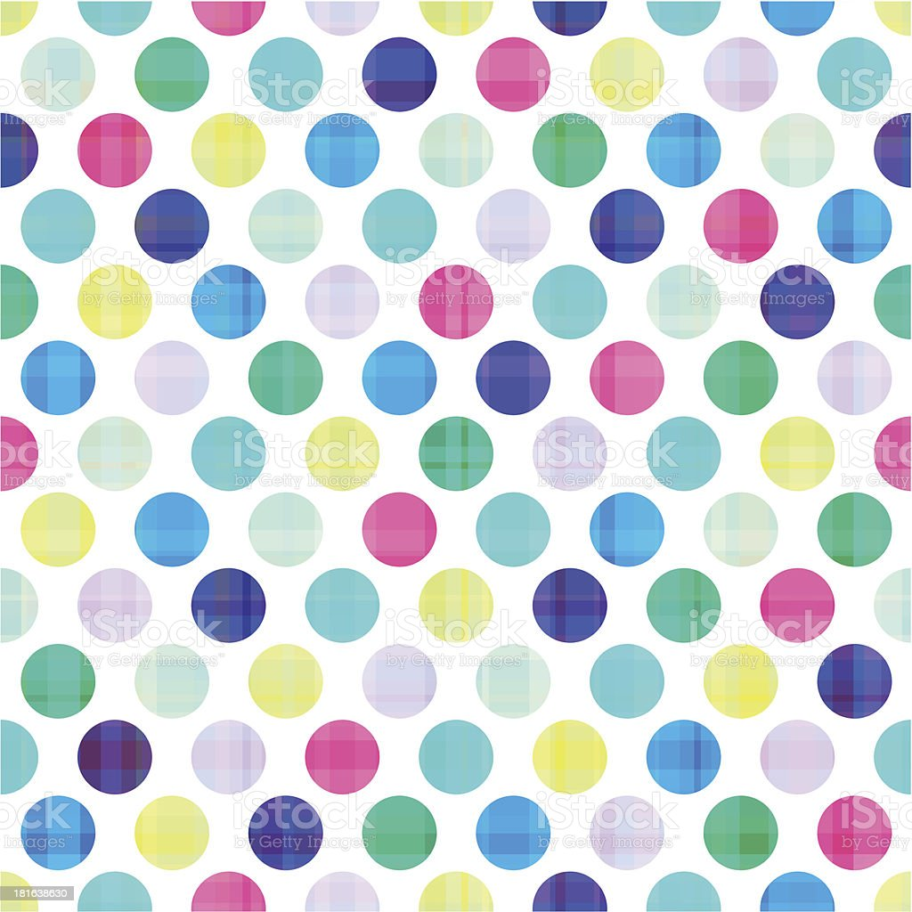 A bright seamless polka dot pattern royalty-free stock vector art