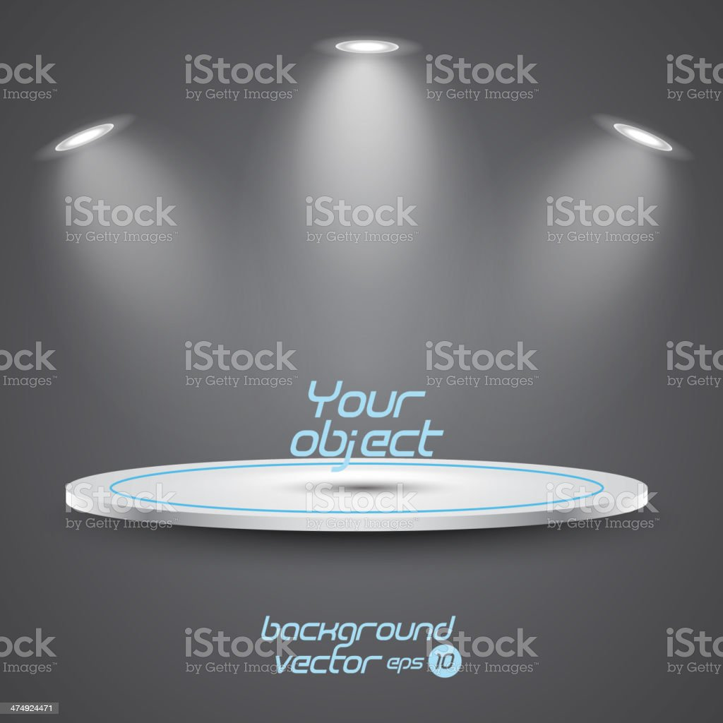 Bright stage with spot lights. royalty-free stock vector art