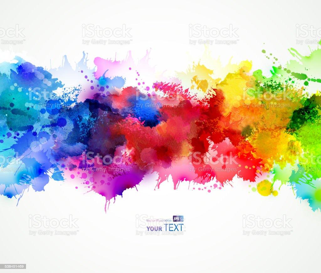 bright  stains vector art illustration