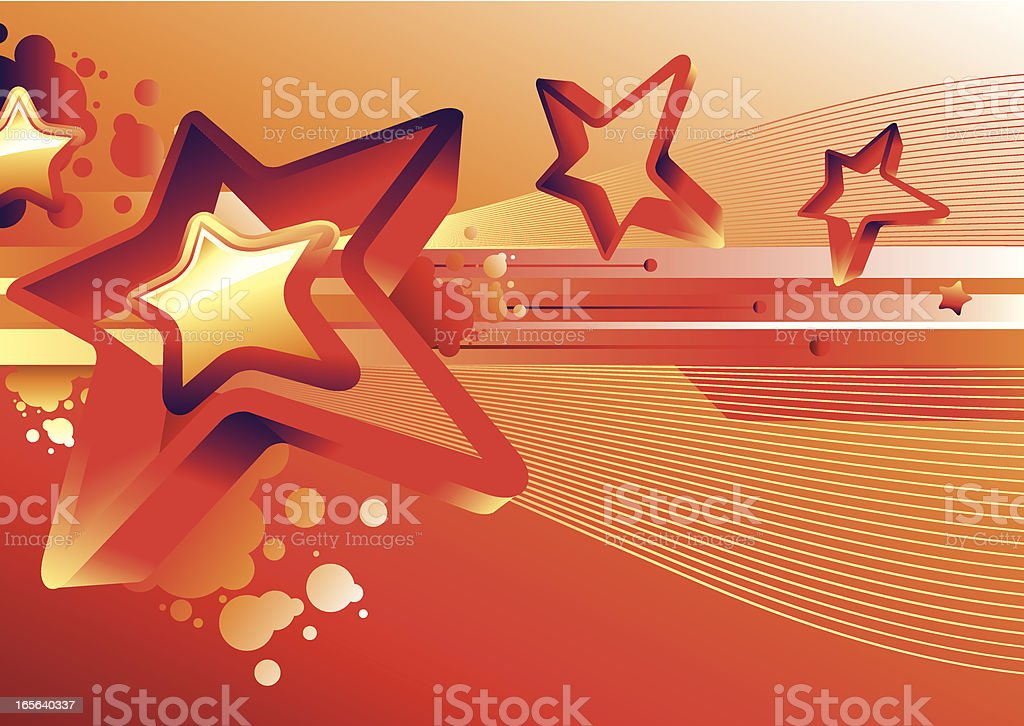 Bright starry background royalty-free stock vector art