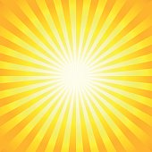 Bright sunbeams, shiny summer background.