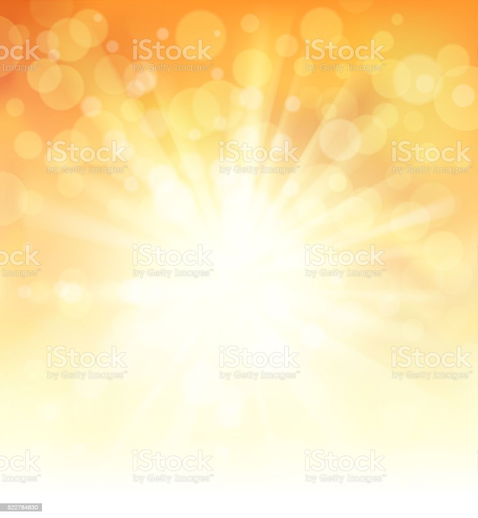 bright sunlight vector art illustration