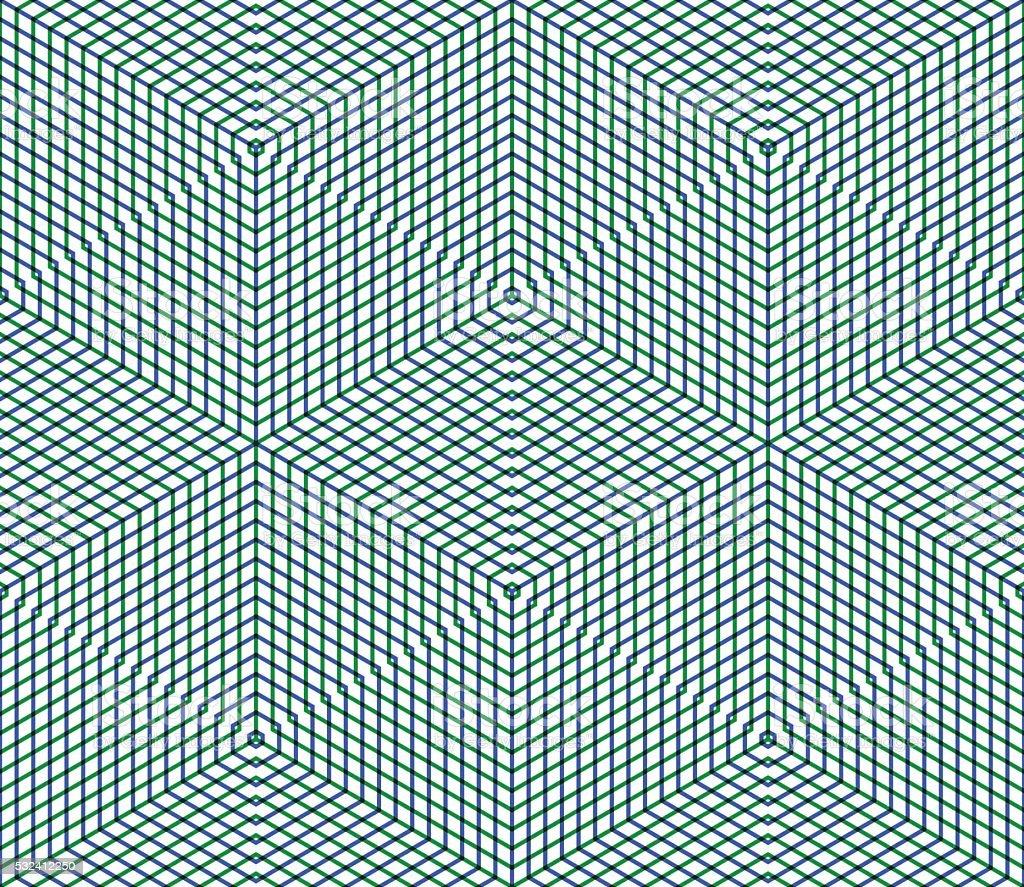 Bright symmetric seamless pattern with interweave figures. vector art illustration