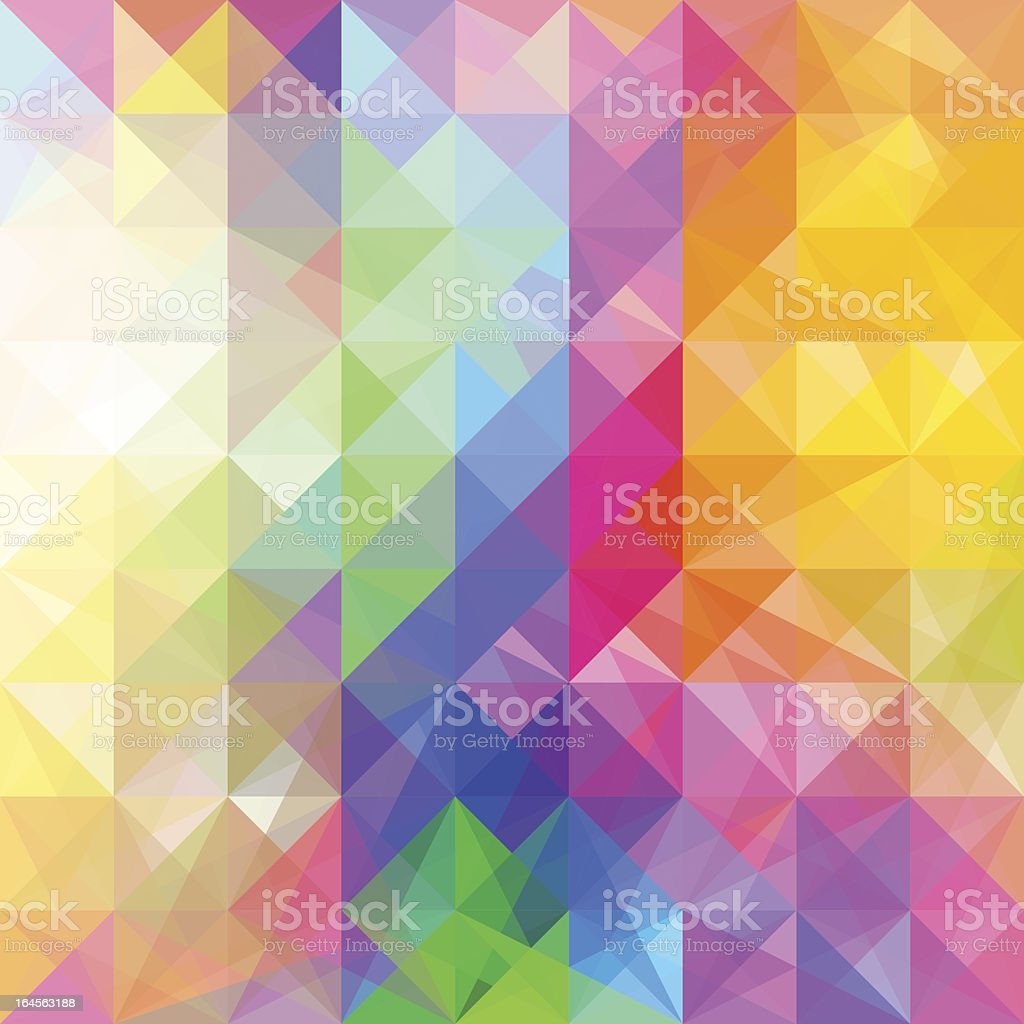 Bright triangles. royalty-free stock vector art