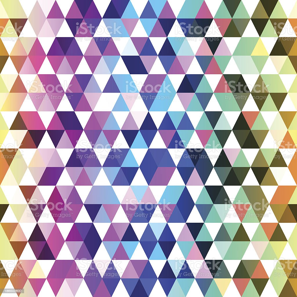 Bright Triangles royalty-free stock vector art