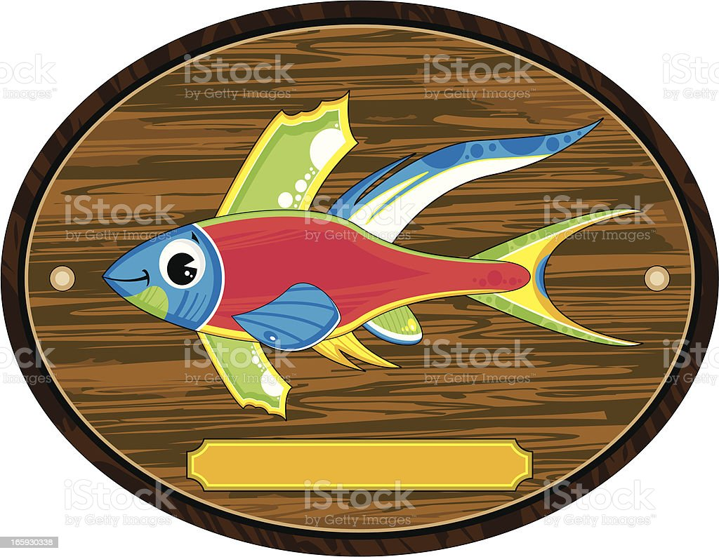 Bright Tropical Fish on Mount royalty-free stock vector art