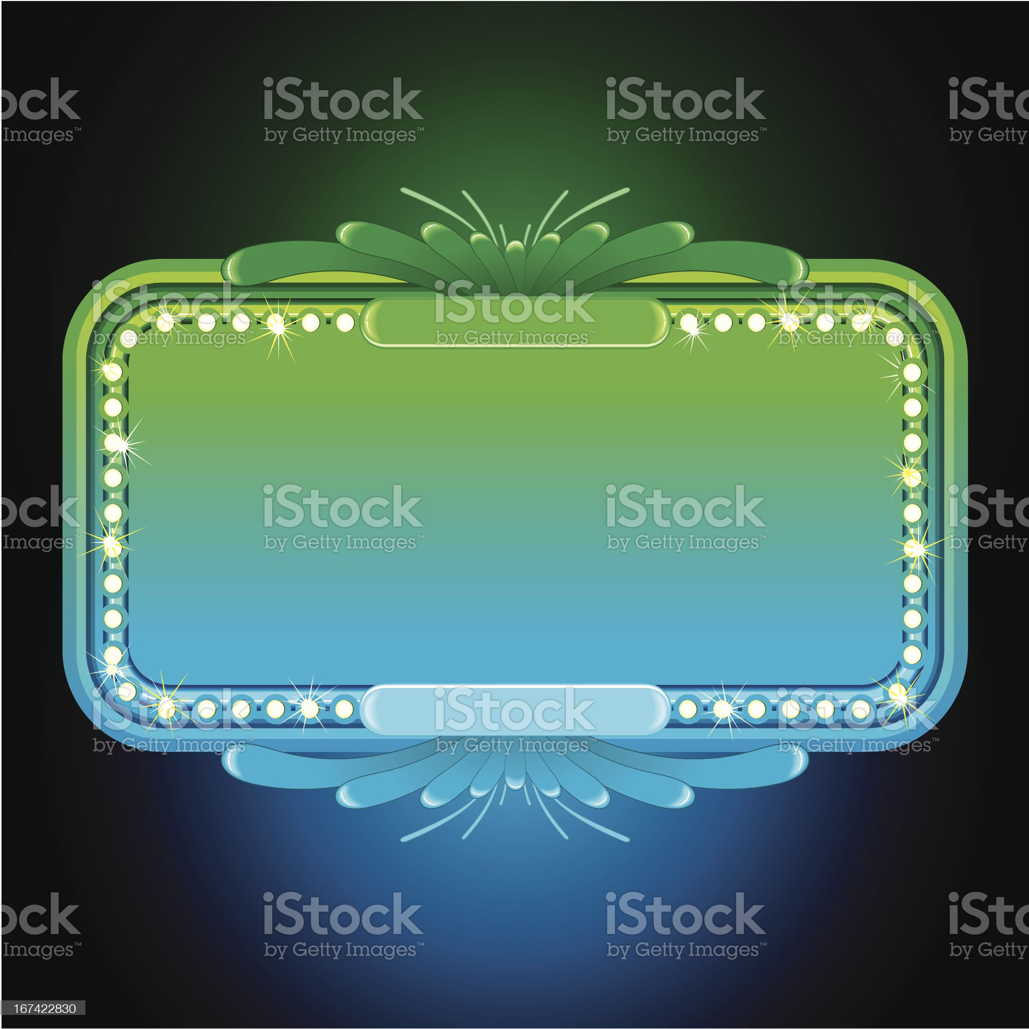Bright Turquoise Neon Sign royalty-free stock vector art