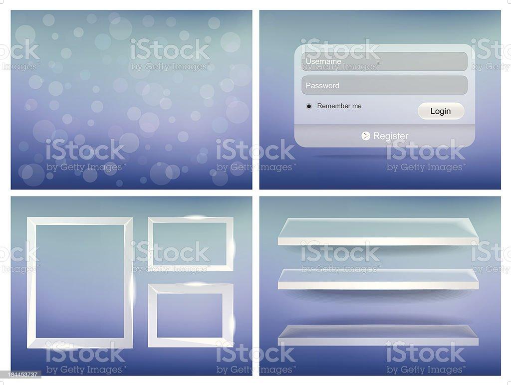 bright User Interface royalty-free stock vector art