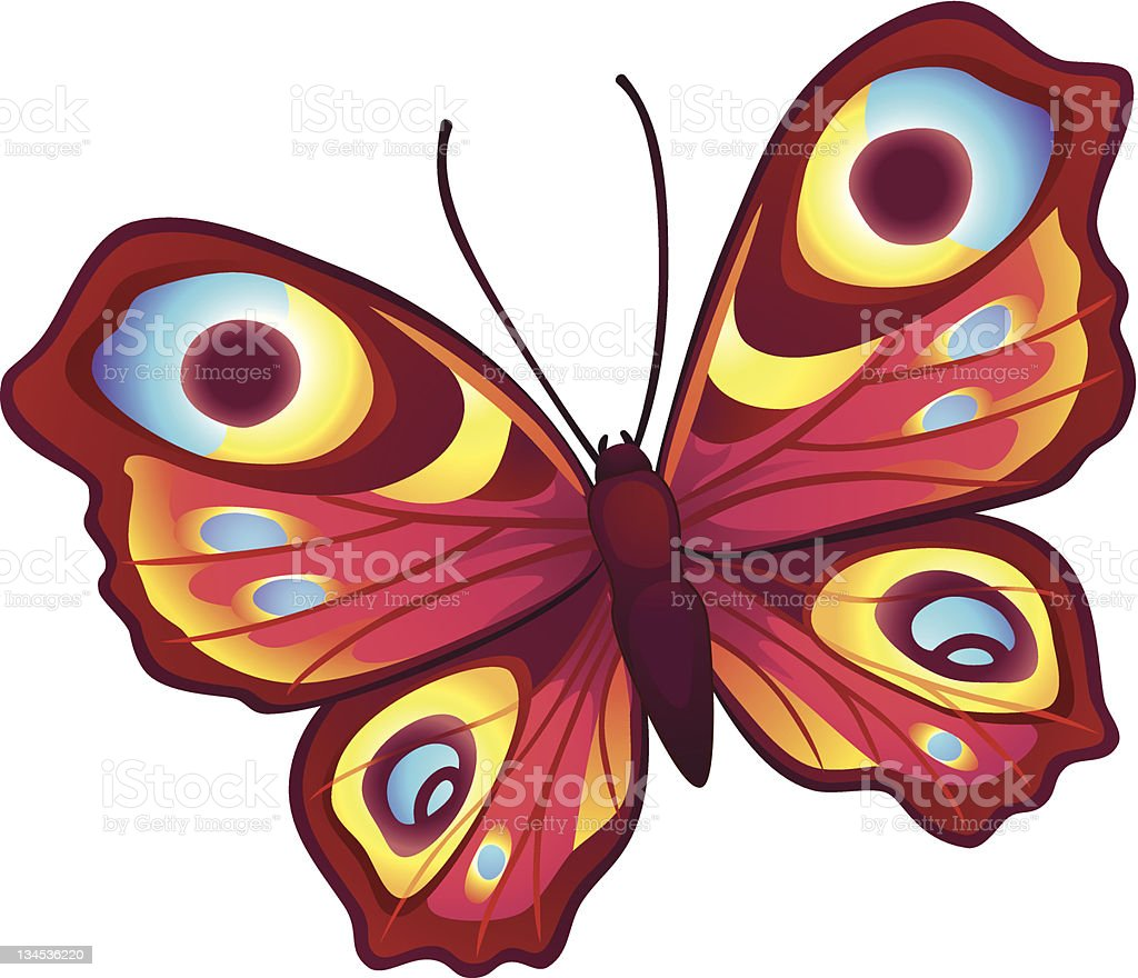 Bright vector butterfly royalty-free stock vector art