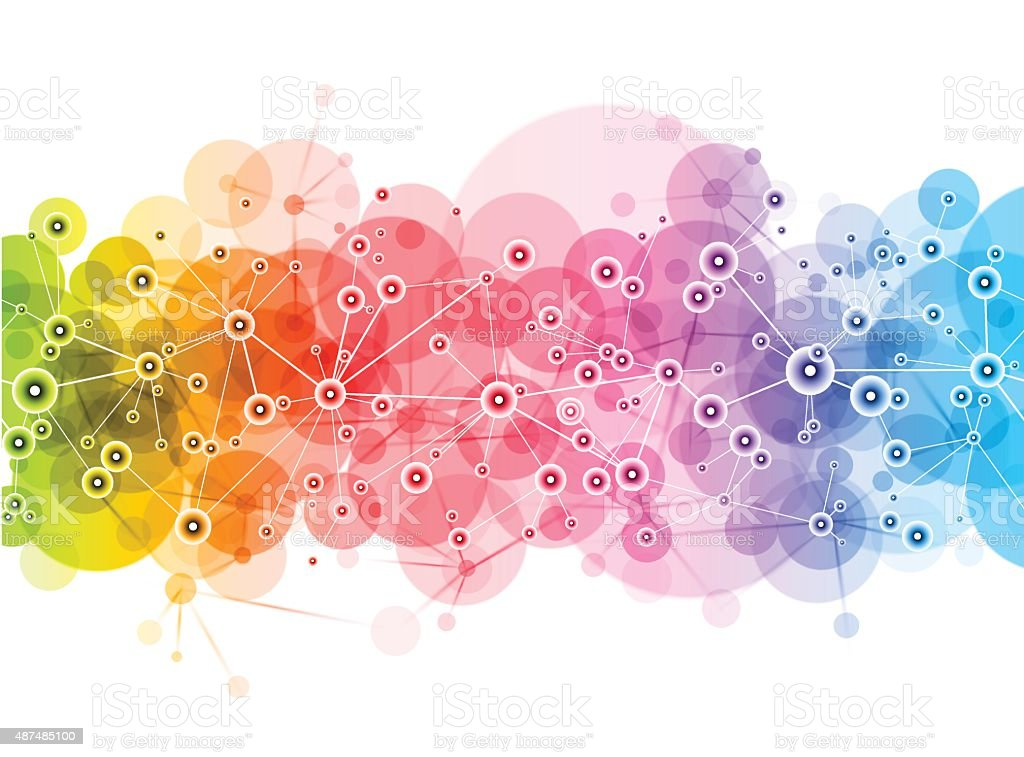 Bright Vector Network design vector art illustration