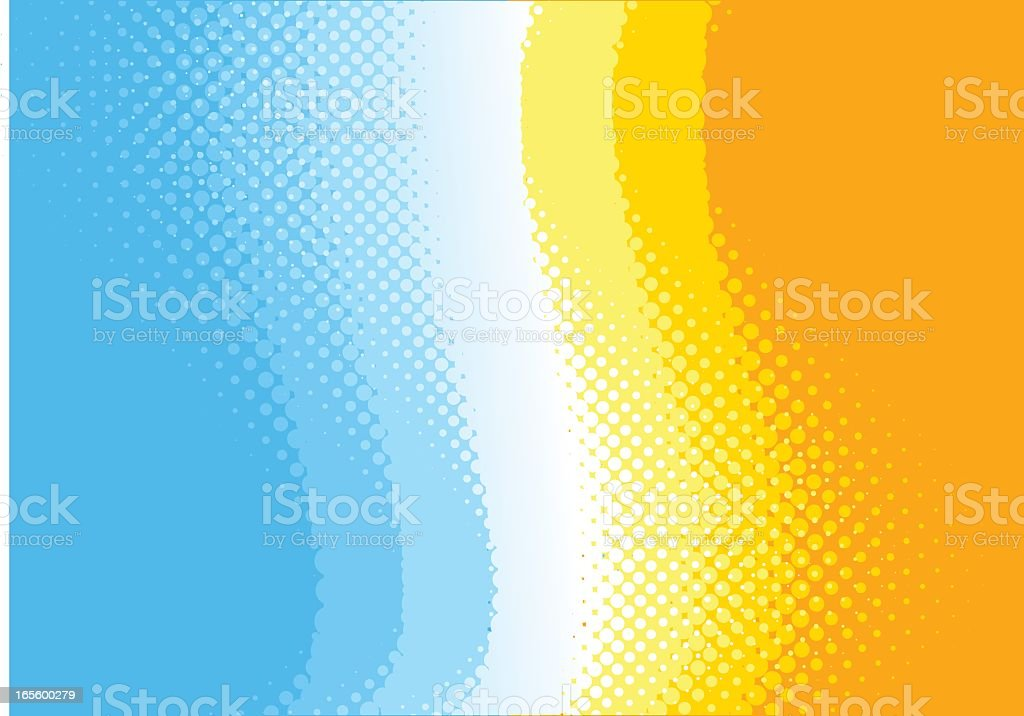 Bright yellows, blues, and white vibe background royalty-free stock vector art