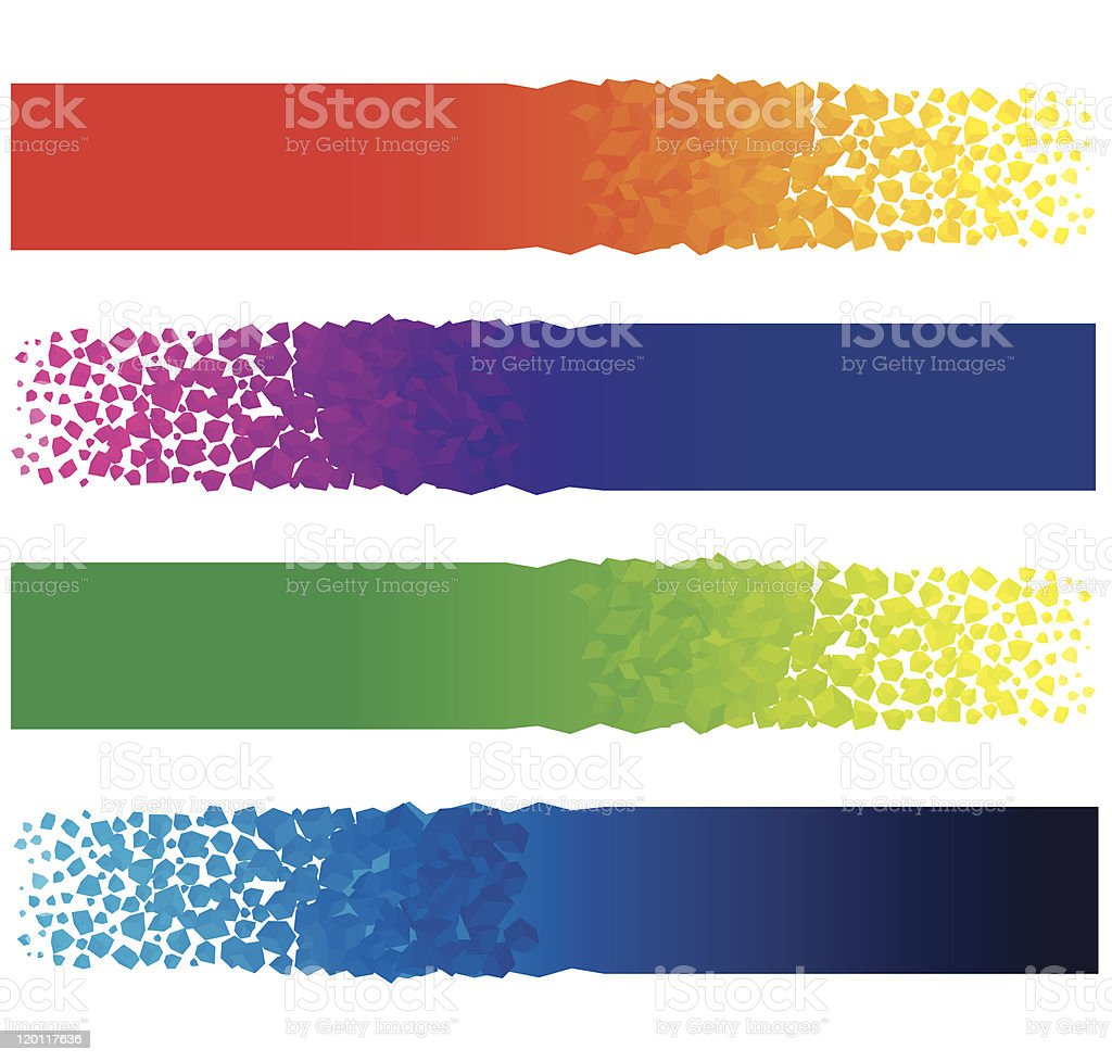 Brightly Colored Banners royalty-free stock vector art
