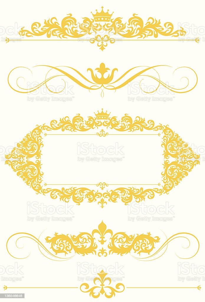 Brilliant frame and page rules royalty-free stock vector art