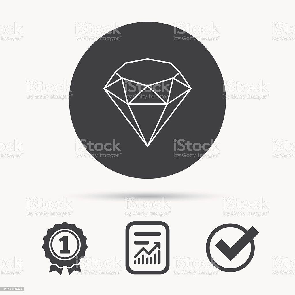 Brilliant icon. Diamond gemstone sign. vector art illustration
