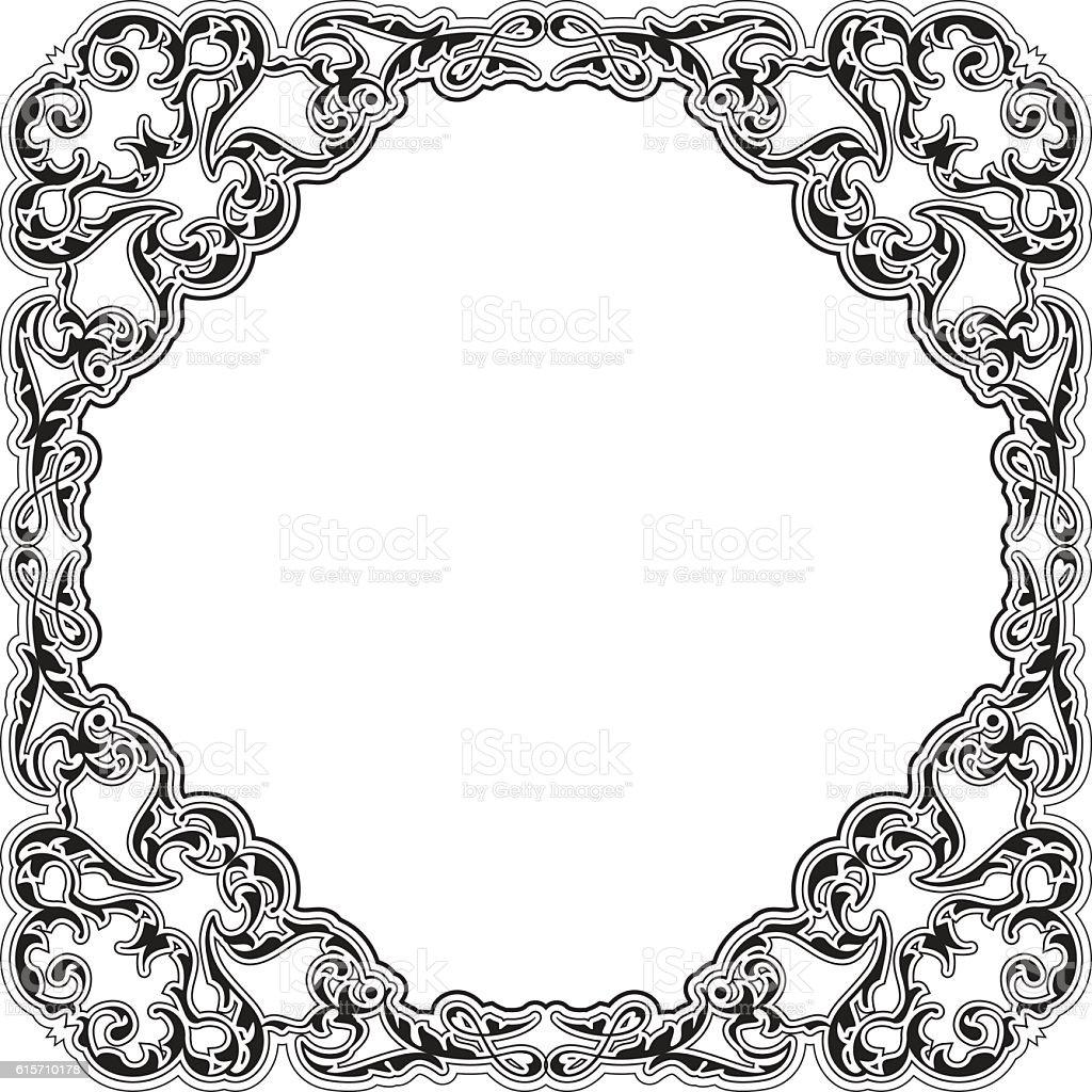 brilliant victorian frame stock vector art 615710178 istock rh istockphoto com victorian mirror frame vector round victorian frame vector