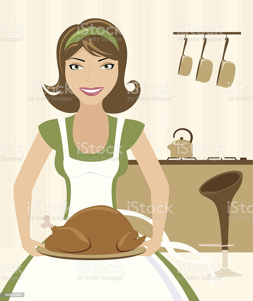 Bringing out the Turkey - incl. jpeg royalty-free stock vector art