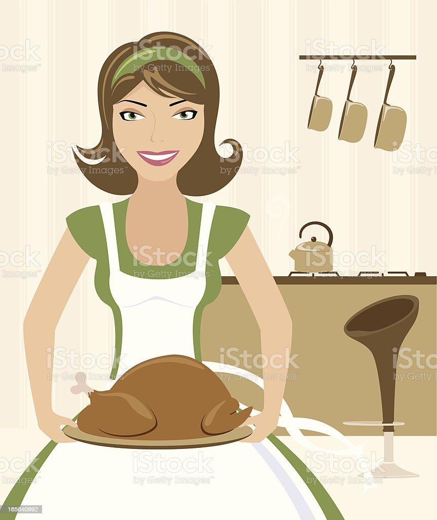 Bringing out the Turkey - incl. jpeg vector art illustration
