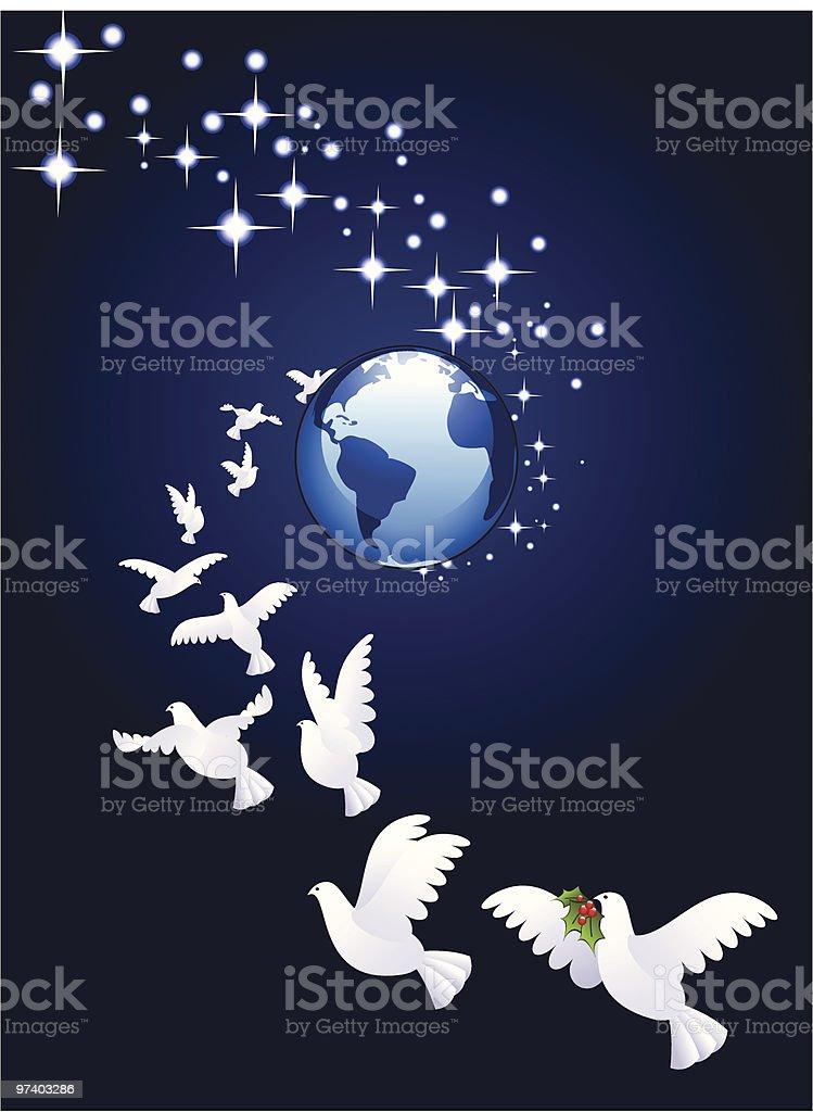 Bringing peace royalty-free stock vector art