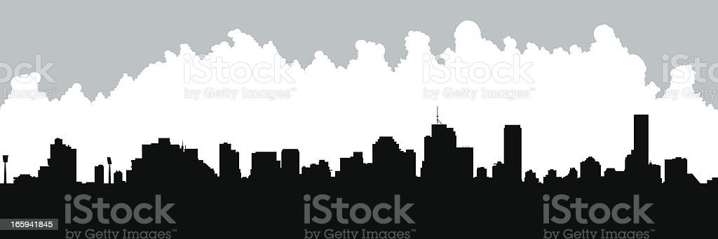 Brisbane Skyline Silhouette royalty-free stock vector art