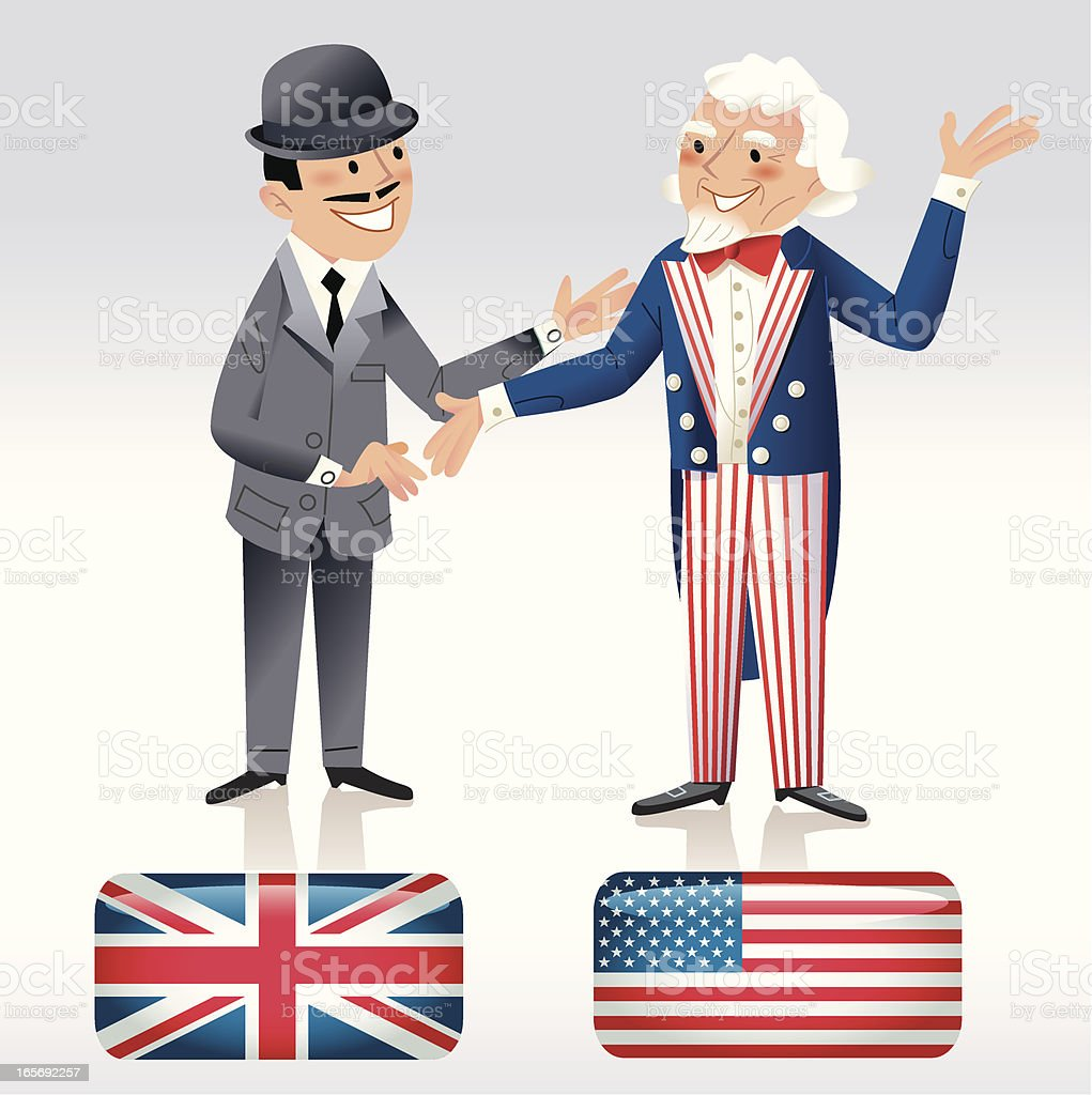 Britain meets America royalty-free stock vector art