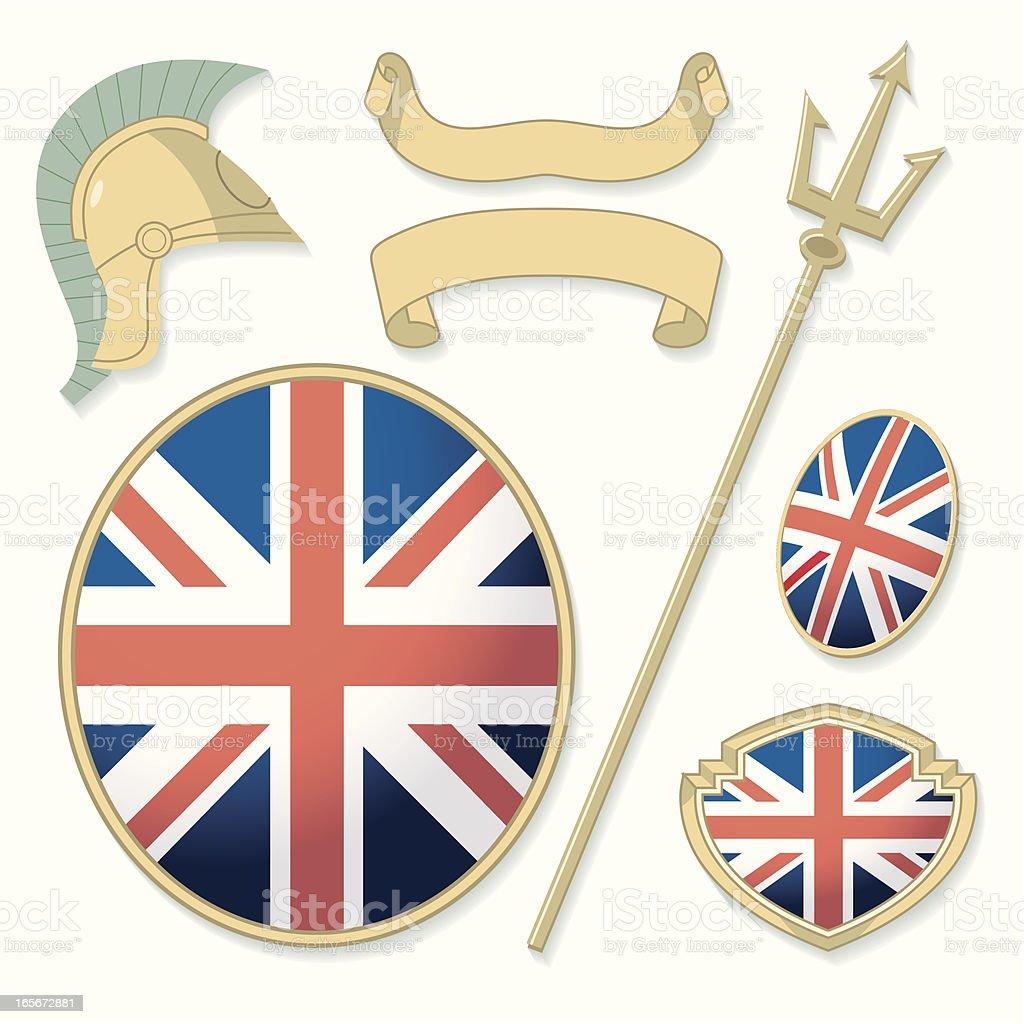Britannic Elements vector art illustration