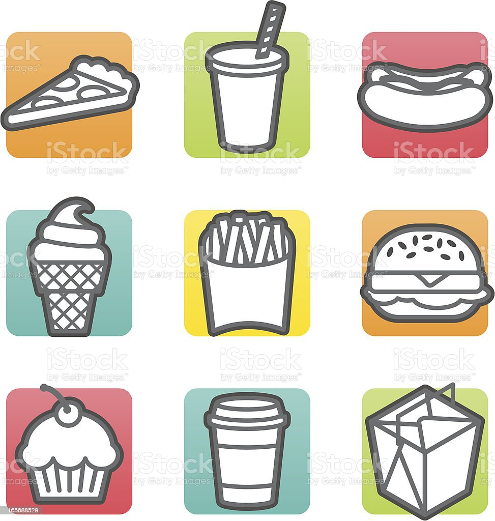 briteline icons: takeout royalty-free stock vector art