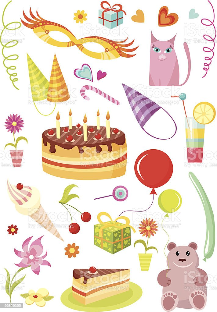 brithday set royalty-free stock vector art