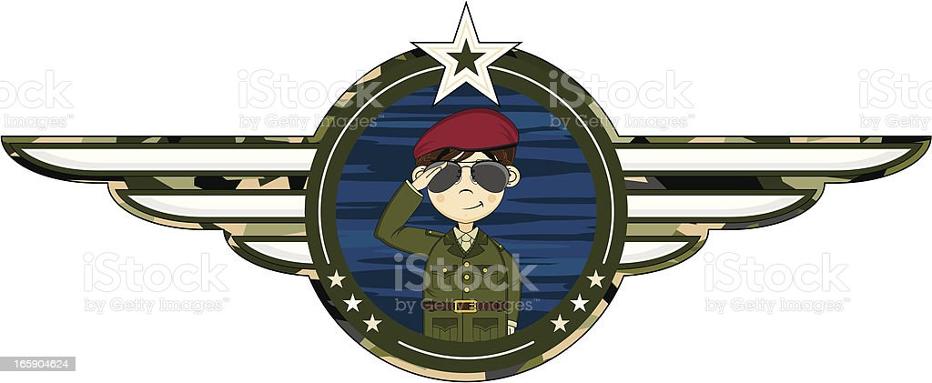 British Army Soldier Badge royalty-free stock vector art