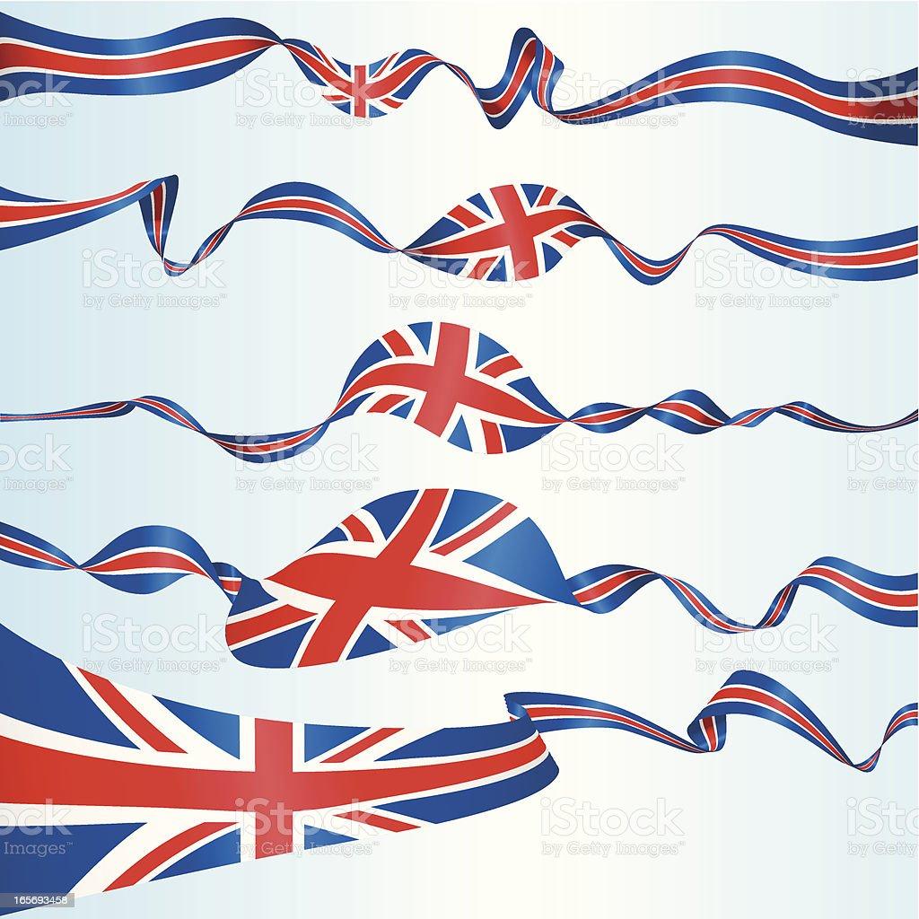British Banners royalty-free stock vector art