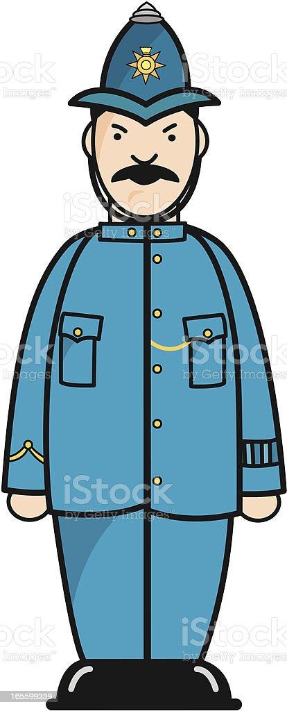 British Bobby Policeman royalty-free stock vector art