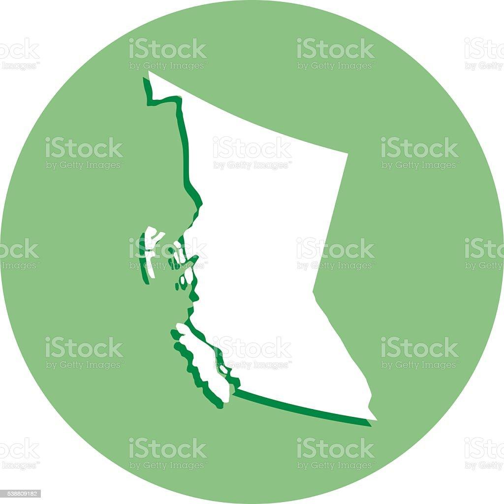 British Columbia Roud Icon vector art illustration