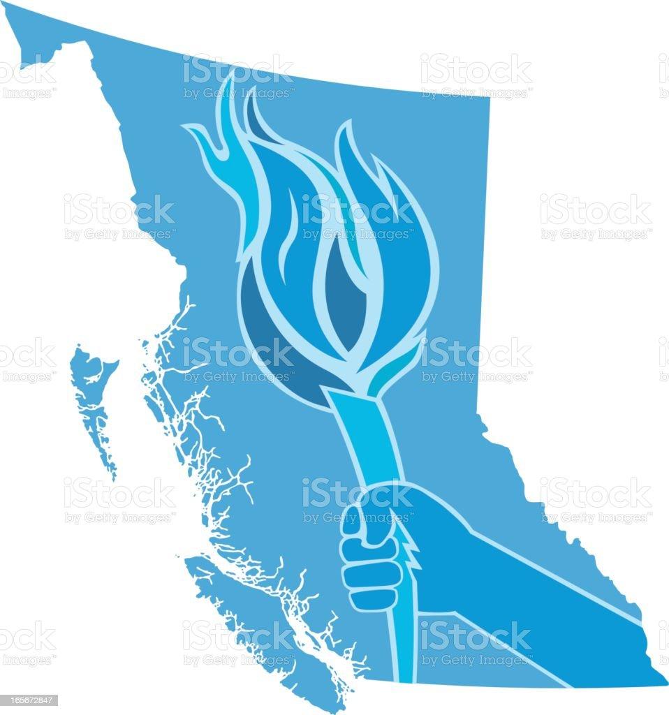 British Columbia Torch royalty-free stock vector art