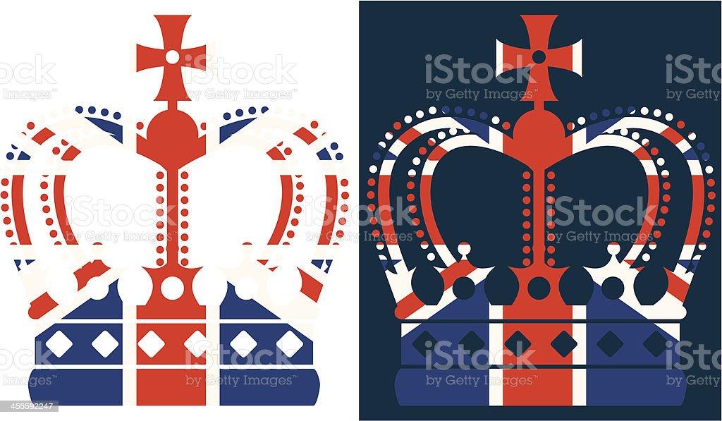 British Crown vector art illustration