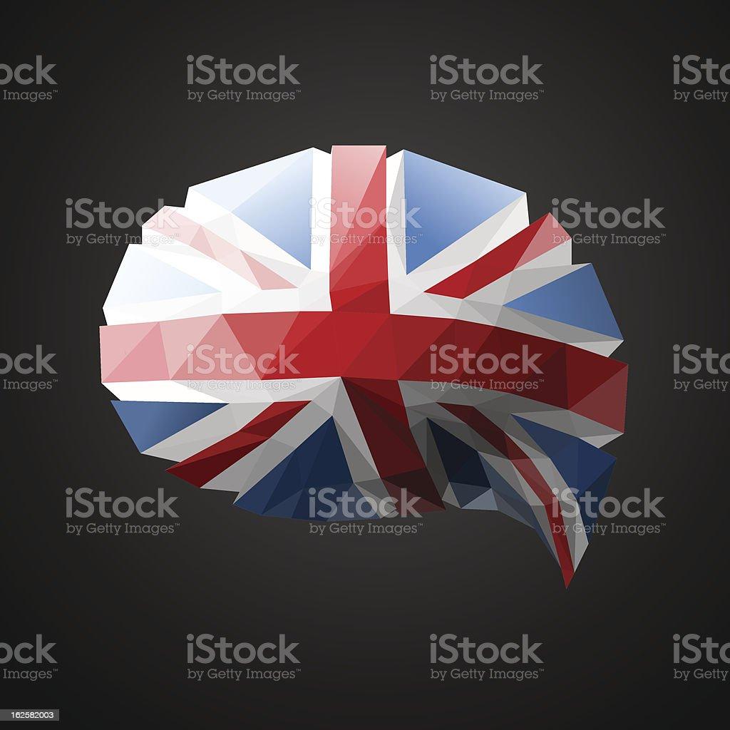 British Flag speech bubble background royalty-free stock vector art