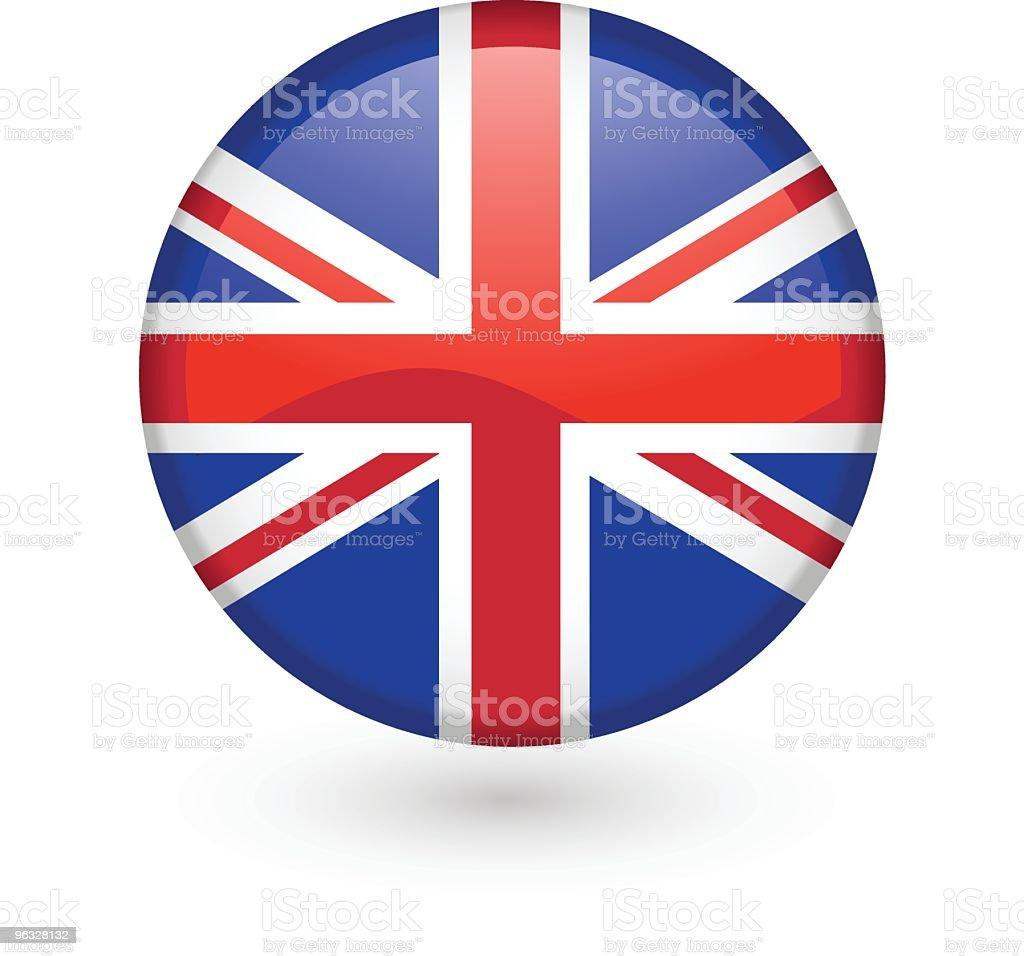 British flag vector button vector art illustration