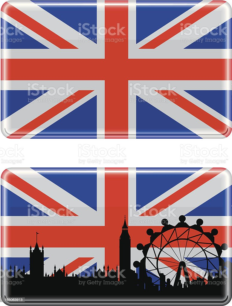 British Flag royalty-free stock vector art