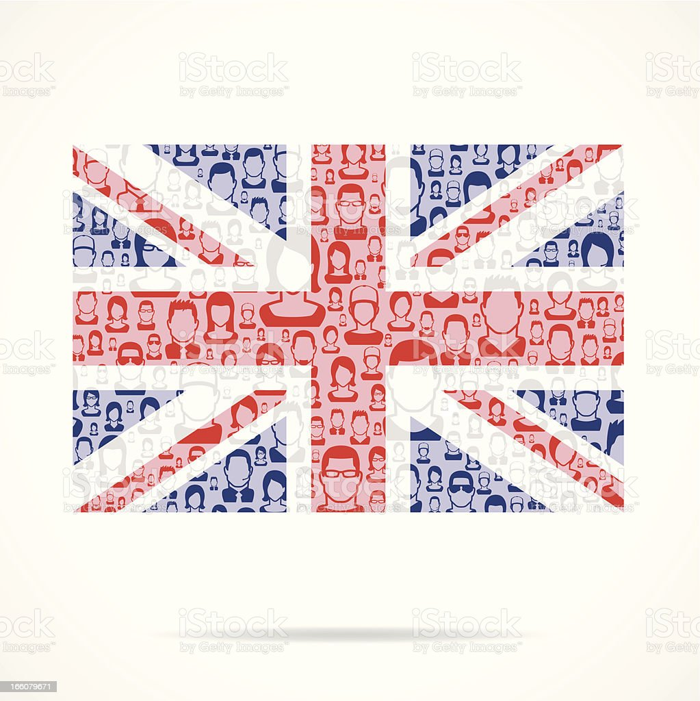 British Flag royalty-free stock vector art