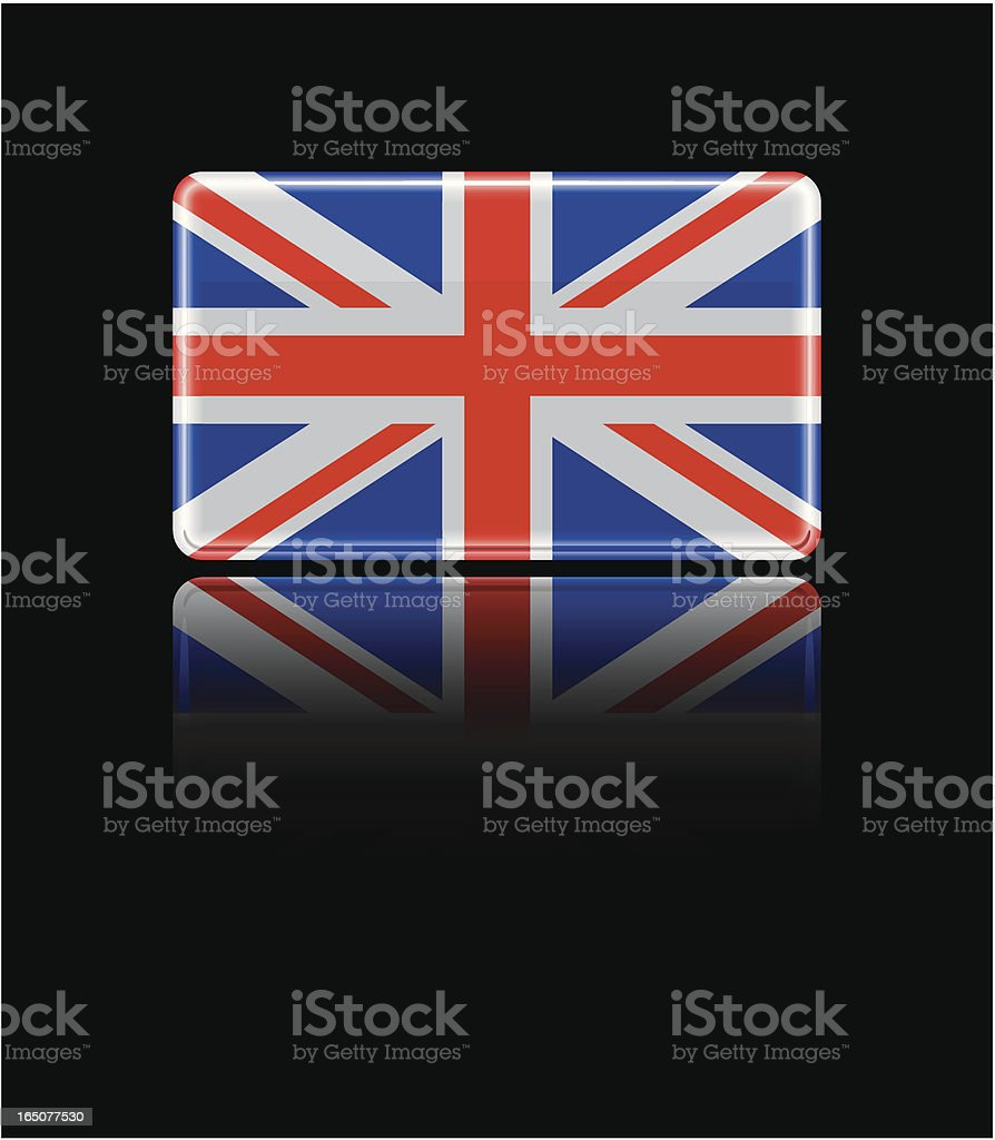 British Glass Flag royalty-free stock vector art