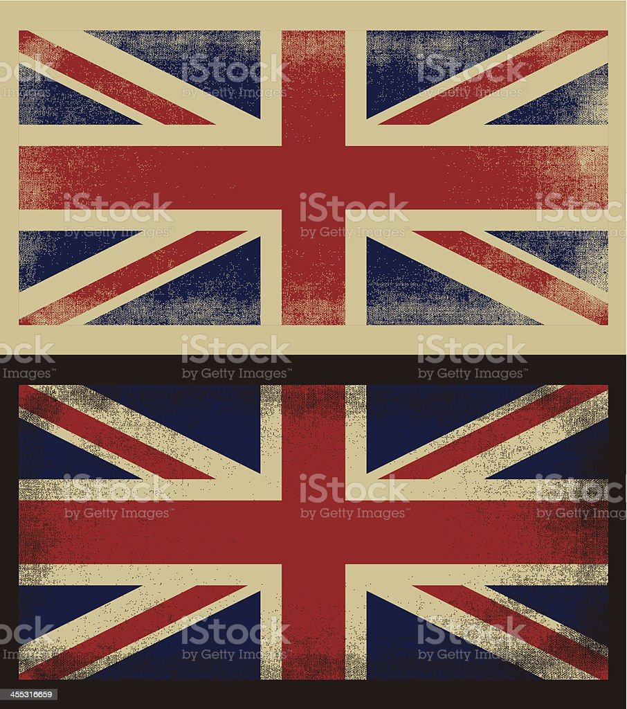 British grunge flag vector art illustration