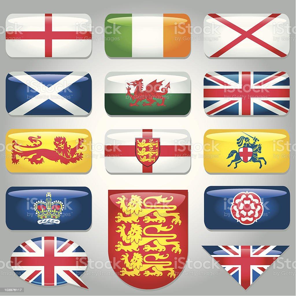 British Heraldry Symbols vector art illustration