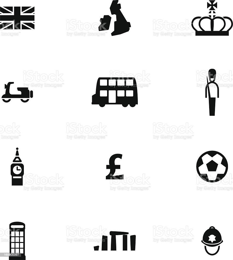 British Icon Set royalty-free stock vector art