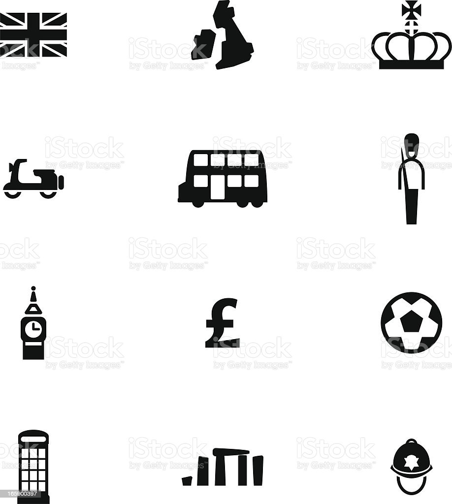 British Icon Set vector art illustration