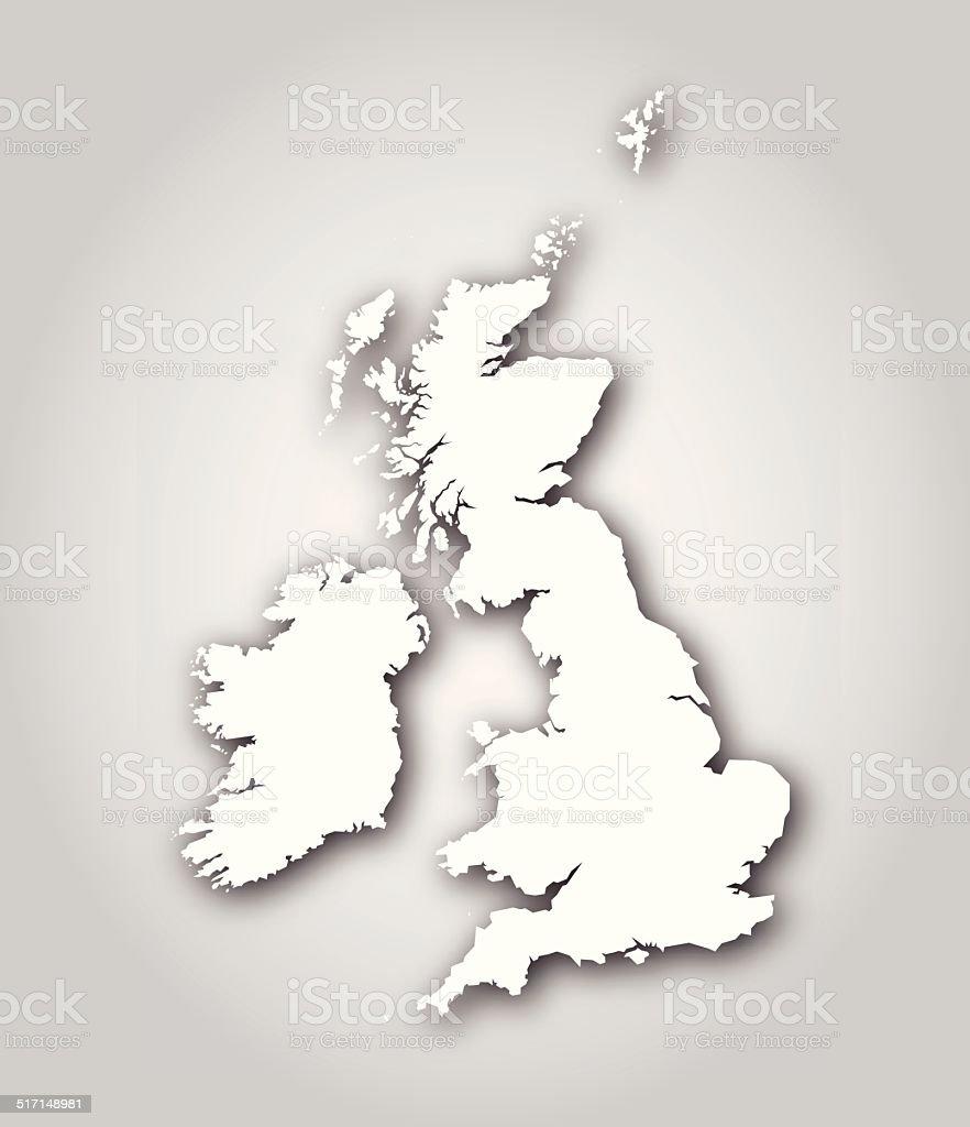 british isles map silhouette white stock vector art 517148981 istock